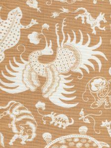 9010-04 INDRAMAYU REVERSE New Camel on White Quadrille Fabric