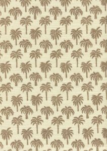 814-04 ISLAND PALM Brown Quadrille Fabric
