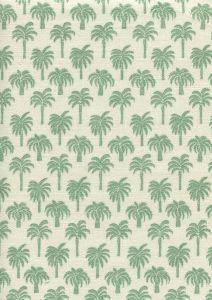 814-02 ISLAND PALM Celadon Quadrille Fabric