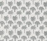 814-08 ISLAND PALM Grey Quadrille Fabric