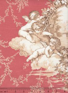 2473-05 LES AMOURS Terracotta Quadrille Fabric