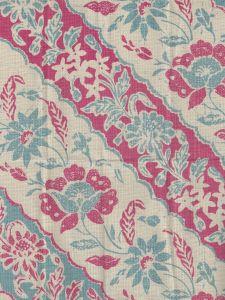7810T-03 LIM DIAGONAL Vapor Magenta on Tan Linen Quadrille Fabric