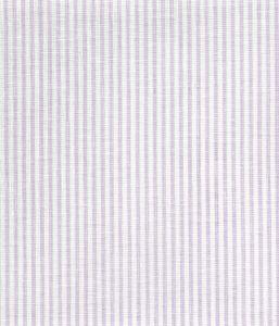 6930W-14 LULU STRIPE Soft Lavender on White Linen Quadrille Fabric