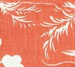 6015-06 LYFORD BACKGROUND New Shrimp on White Quadrille Fabric