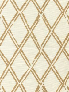 6710-05 LYFORD DIAMOND BAMBOO Camel on Tint Quadrille Fabric