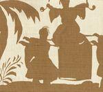 6580-10 LYFORD PAGODA Camel on Tint Quadrille Fabric