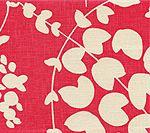 4101-11 LYSETTE REVERSE Magenta on Tan Quadrille Fabric