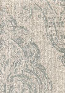 020250T-E MACEDONIA DAMASK Silver on Cotton Velvet Quadrille Fabric