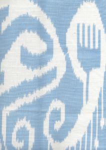 303044WLC NOMAD Zibby Blue on White Linen Cotton Quadrille Fabric