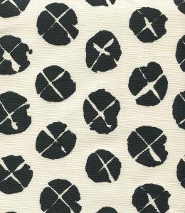 6650-10 OBI II Black on Tint Quadrille Fabric