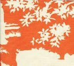 301988F PARADISE BACKGROUND Orange on Tint Quadrille Fabric