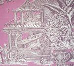 301966F PARADISE GARDEN Purple on Lilac Quadrille Fabric