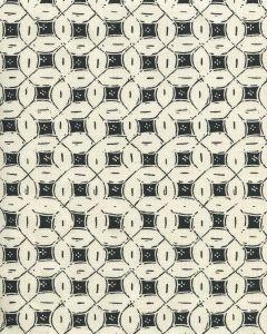 8300-08 PEACOCK BACKGROUND BATIK Black on Tint Quadrille Fabric