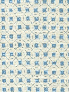 8300-09 PEACOCK BACKGROUND BATIK New Blue on Tint Quadrille Fabric