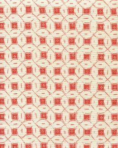 8300-03 PEACOCK BACKGROUND BATIK Orange on Tint  Quadrille Fabric