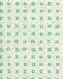 8300-01 PEACOCK BACKGROUND BATIK Turquoise on Tint Quadrille Fabric