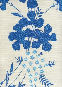 8280-05 PEACOCK FLORAL Multi Blues on Tint Quadrille Fabric