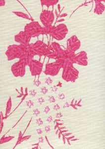 8280-04 PEACOCK FLORAL Multi Pinks on Tint Quadrille Fabric