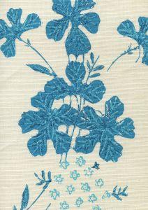 8280-01 PEACOCK FLORAL Multi Turquoises on Tint Quadrille Fabric