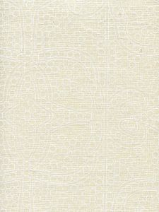 CP1000-01 PERSIA White on Taj Ecru Quadrille Fabric