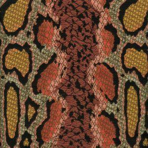010910T PYTHONE Multi Rose with Gold Quadrille Fabric