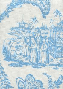 306251F-CUW ROYAL JOURNEY II New Blue on White Quadrille Fabric