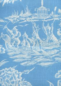 306351F-CUW ROYAL JOURNEY REVERSE II New Blue on White Quadrille Fabric