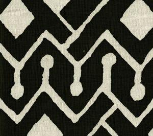 AC107-39 SAHARA Black on Tint Quadrille Fabric