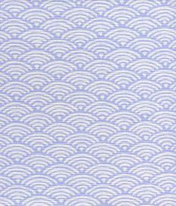 8180W-04 SETO II Periwinkle on White Quadrille Fabric