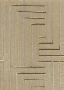 021130T-E SKEIN EMBROIDERY Gold on Tan Velvet Quadrille Fabric