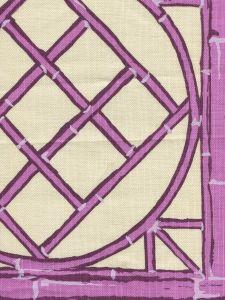 6020-08 LYFORD TRELLIS Lilac Purple Cream Quadrille Fabric