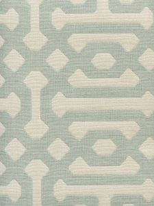 306402F WISCASSET French Green Ivory Quadrille Fabric