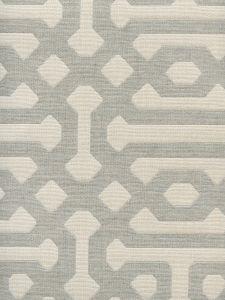 306401F WISCASSET Gray Ivory Quadrille Fabric
