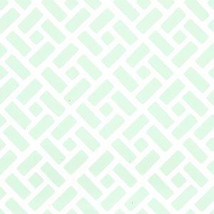 6990WP-03PV EDO Celadon On White Vinyl Quadrille Wallpaper
