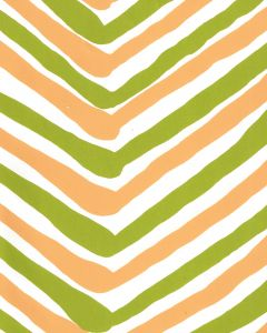 AP950-09 ZIG ZAG MULTI COLOR Lime Yellow On Almost White Quadrille Wallpaper