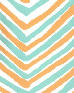 AP950-10 ZIG ZAG MULTI COLOR Turquoise Yellow On Almost White Quadrille Wallpaper