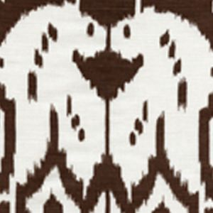 6460-05 ISLAND IKAT Brown on White Quadrille Fabric