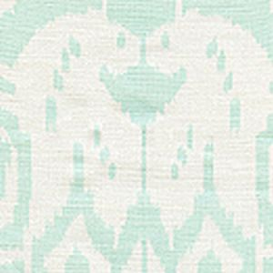 6460-32 ISLAND IKAT Pale Aqua on White Quadrille Fabric