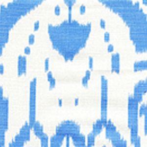 6460-03 ISLAND IKAT Zibby Blue on White Quadrille Fabric