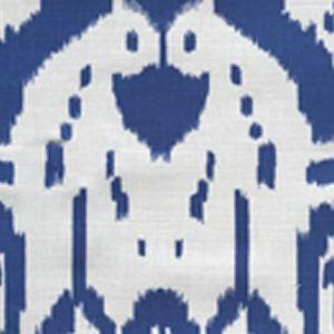 6460-01 ISLAND IKAT Dark Blue on White Quadrille Fabric
