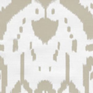 6460-30 ISLAND IKAT Pumice on White Quadrille Fabric