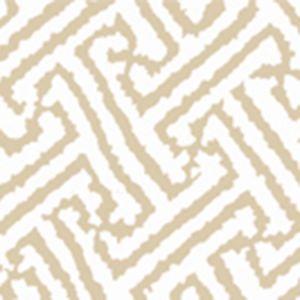 6620-09AWP JAVA GRANDE Tan On White Quadrille Wallpaper