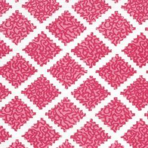 JF01000-06 SHANGHAI Raspberry on White Quadrille Fabric