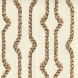 JF01010-09TLC REGENCY ROPES Multi Camels on Tint Quadrille Fabric
