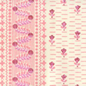306293OWP LINKS II Multi Pinks On Off White Quadrille Wallpaper