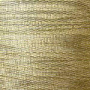LN11864 Sisal Grasscloth Metallic Gold and Aloe Seabrook Wallpaper
