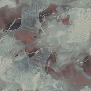 LW50201 Notch Trowel Abstract Garnet and Deep Sea Seabrook Wallpaper