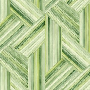 LW51904F Geo Inlay Fabric (LW50104 Coordinate) Chartreuse and Basil Seabrook Wallpaper