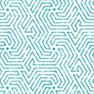 2510-01WP MAZE Turquoise Quadrille Wallpaper