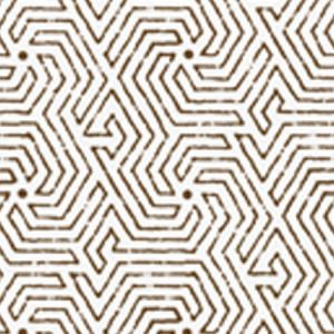 2510-07WP MAZE Brown Quadrille Wallpaper